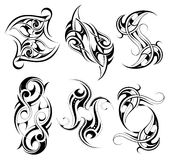 Set of tribal tattoo shapes Stock Photos