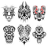 Set of tribal tattoo shapes Stock Photography