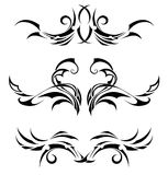 Set Tribal Tattoos Royalty Free Stock Photos
