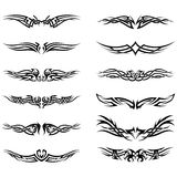 Set of tribal tattoos Stock Photos