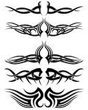 Set tribal tattoos Stock Image