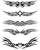 Set tribal tattoos Stock Photo