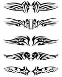 Set tribal tattoos Royalty Free Stock Image