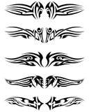 Set tribal tattoos Royalty Free Stock Image