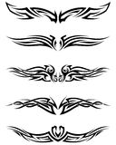 Set tribal tattoos Royalty Free Stock Images