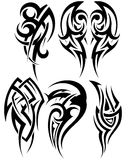 Set of tribal tattoos Stock Images