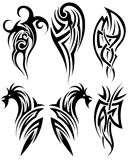 Set of tribal tattoos Royalty Free Stock Photography