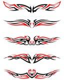 Set of Tribal Tattoos Stock Image