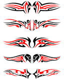 Set of Tribal Tattoos Royalty Free Stock Photos