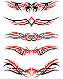 Set of Tribal Tattoos Stock Photo