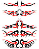 Set of Tribal Tattoos Stock Image