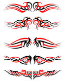 Set of Tribal Tattoos Royalty Free Stock Photo