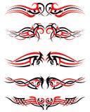 Set of Tribal Tattoos Royalty Free Stock Photo