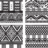 Set of tribal texture Stock Photos