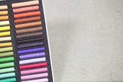 Set trockener Pastell Stockfotografie
