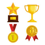 Set trophies competition awards Royalty Free Stock Photos