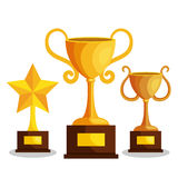 Set trophies competition awards. Vector illustration design Royalty Free Stock Photos