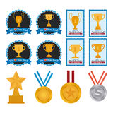 Set of trophies Royalty Free Stock Images