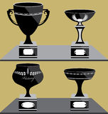Set of Trophies Icon Stock Images