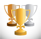 Set of trophies illustration design Stock Photos