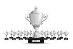 Set of trophies. A silver Set of trophies Royalty Free Stock Photography