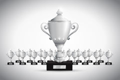 Set of trophies. A silver Set of trophies Royalty Free Stock Image