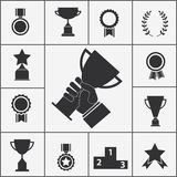 Set of trophy and award icons Stock Images