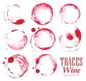 Set tropi czerwone wino oceny Zdjęcia Stock