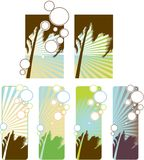 Set of tropical banners Stock Photos