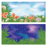 Set tropical banners Royalty Free Stock Photography