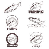 Set of trout banners Royalty Free Stock Image