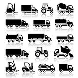 Set of truck black icons Royalty Free Stock Images
