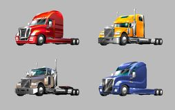 Set of trucks Royalty Free Stock Photo