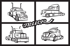 Set of trucks Stock Photos