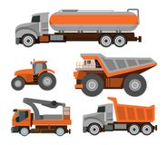 Set of Trucks Royalty Free Stock Image