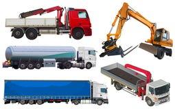 Set of trucks Stock Photo