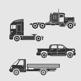 Set of trucks Stock Photo