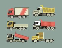 Set of Trucks Stock Image
