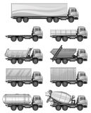 Set of trucks Stock Photography
