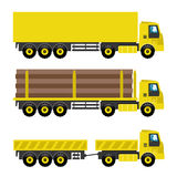 Set of trucks. Royalty Free Stock Photography