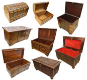 Set with trunks and chests Royalty Free Stock Photography