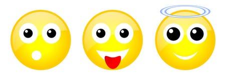 Set emoticons Fotografia Stock