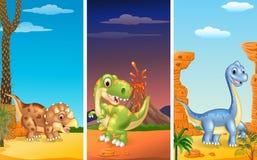 Set trzy dinosaura royalty ilustracja