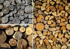 Set trzy drewnianej tekstury Zdjęcia Stock