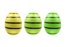 Set trzy Easter jajka odizolowywającego na białym tle dla projekta Obrazy Royalty Free