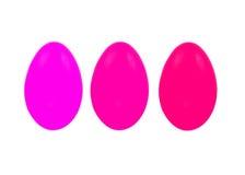 Set trzy Easter jajka odizolowywającego na białym tle dla projekta Obrazy Stock