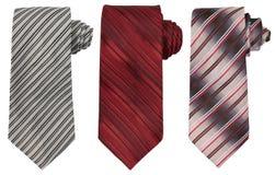 Set trzy krawata odizolowywającego na bielu obraz stock