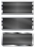 Set trzy metalu talerza Zdjęcia Stock