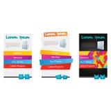 Set trzy sieci różny Kolorowy element Zdjęcia Royalty Free