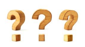 Set trzy znaka zapytania odizolowywającego Obrazy Stock